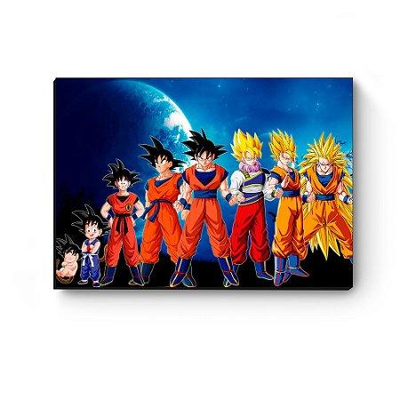 Quadro decorativo MDF Dragon Ball Goku Evolution