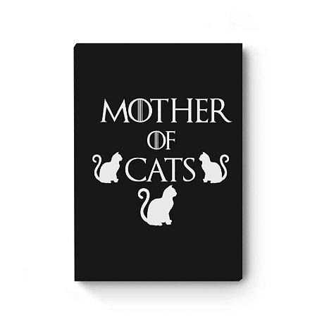 Quadro decorativo MDF Khaleesi Mother of Cats Black