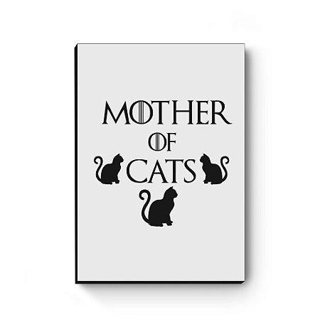 Quadro decorativo MDF Khaleesi Mother of Cats White