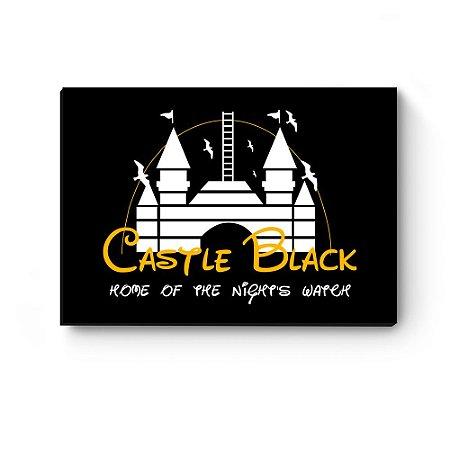 Quadro decorativo MDF Castle Black Preto