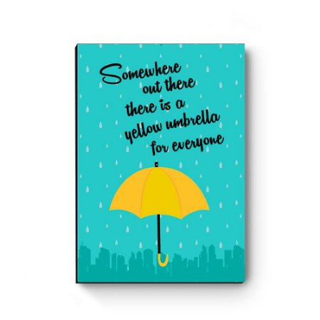 Quadro decorativo MDF Yellow Umbrella