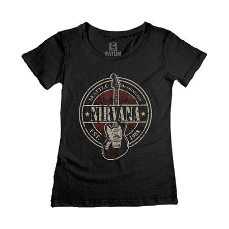 Camiseta feminina Nirvana Seattle Washington