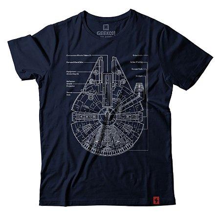 Camiseta Star Wars Millennium Falcon