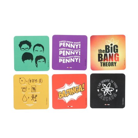 Set 6 Porta Copos The Big Bang Theory Frases Famosas