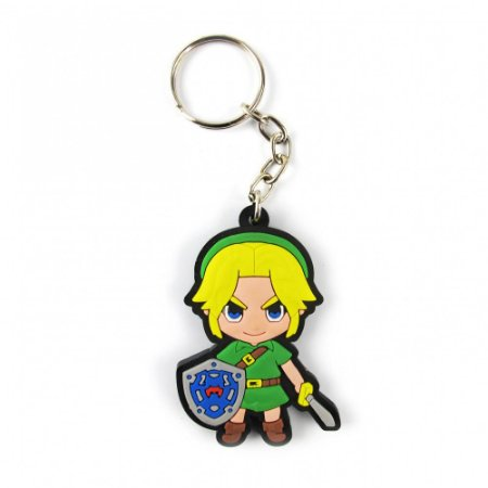 Chaveiro emborrachado Link Zelda