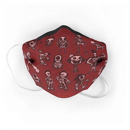 Máscara de Tecido Geek Caveiras