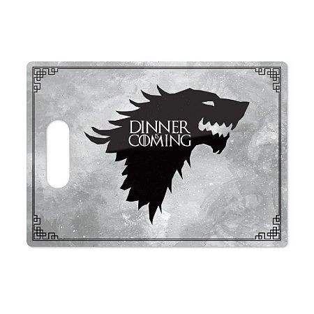 Tábua de Carne de Vidro Churras 35x25 Game of Thrones