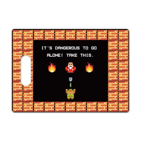 Tábua de Carne de Vidro Churras 35x25 Zelda - Take This