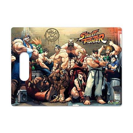 Tábua de Carne de Vidro Churras 35x25 Street Fighter