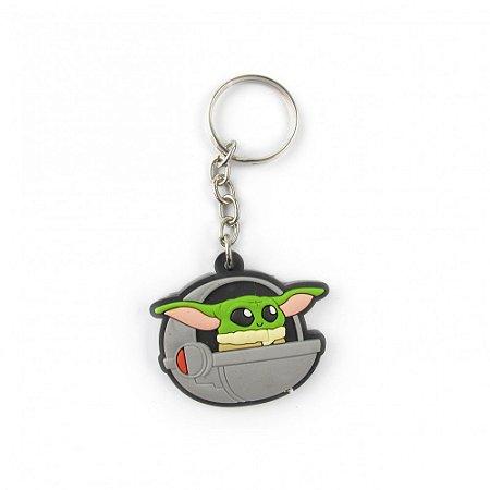 Chaveiro emborrachado Yoda Pod