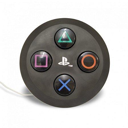 Luminária Playstation Botão Preto