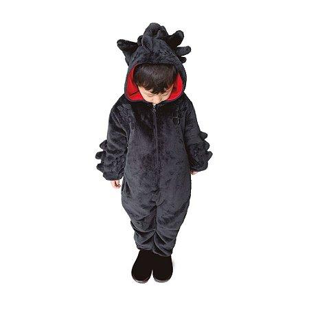 Macacão Kigurumi Infantil Dragão Banguela de 3 a 4 anos