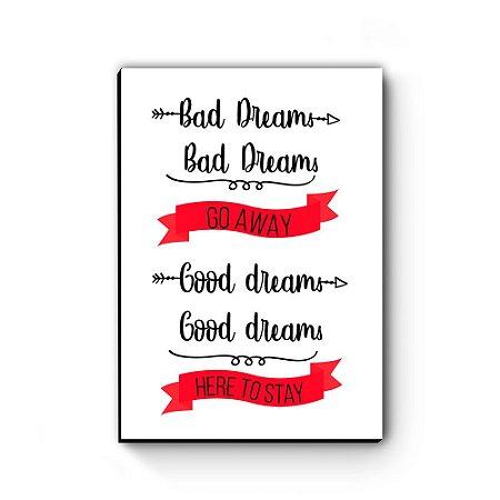 Quadro decorativo A4 Greys Anatomy Bad Dreams