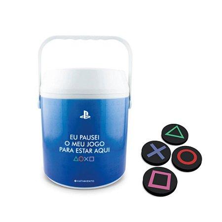 Combo Cooler e porta copos Playstation