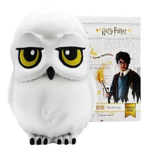 Cofre 3D Edwiges Coruja Harry Potter