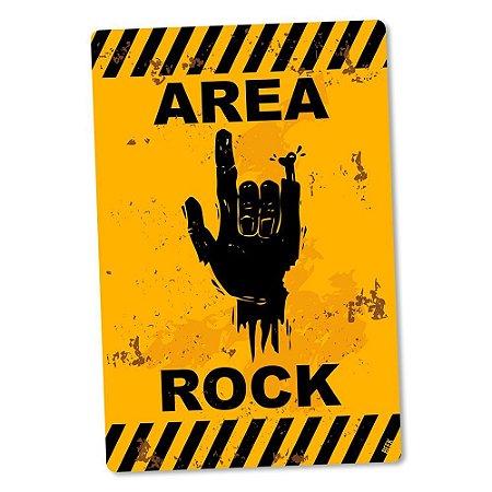 Placa Decorativa Área Rock