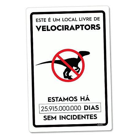 Placa Decorativa Livre de Dinossauros