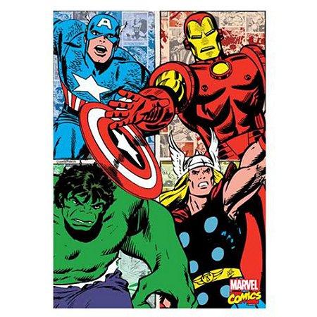 Quadro Canvas 70X50 Herois  Comics
