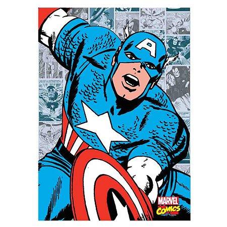 Quadro Canvas 70X50 Capitão América Comics