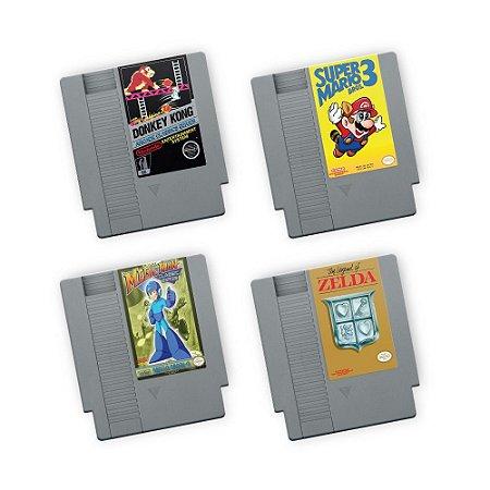Porta Copos de Acrílico Fitas Nintendo Kit 01
