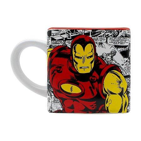 Caneca Cubo 300ml Iron Man