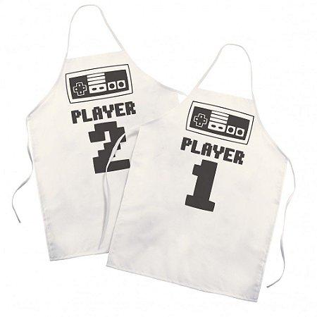 Kit Avental Adulto Player 1 Player 2 II