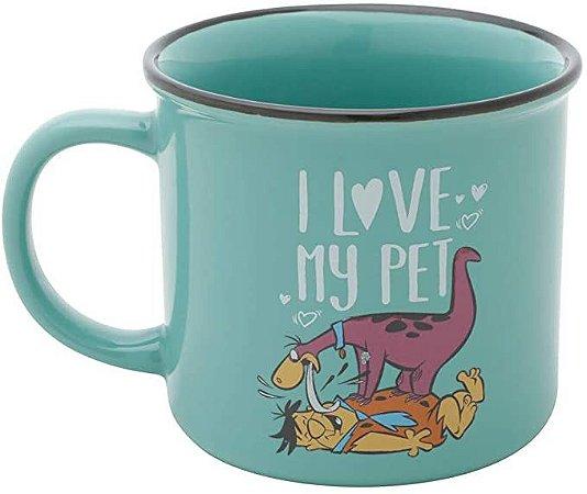 Caneca Porcelana WB Flinstones Dino Love My Pet
