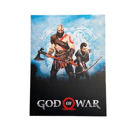 Quadro Tela God Of War Kratos e Atreus