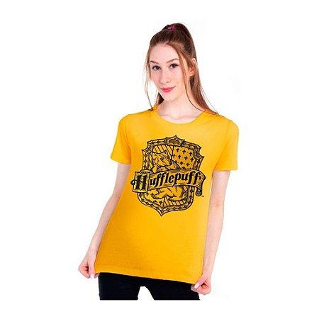 Camiseta feminina Harry Potter casa Lufa -Lufa