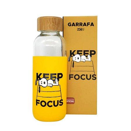 Garrafa Eco Snoopy Keep Focus