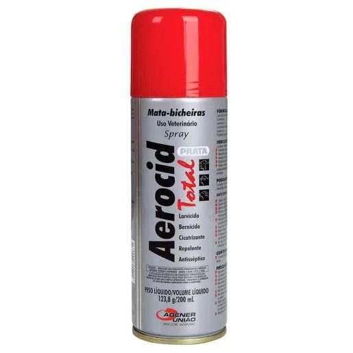 Mata Bicheira Aerocid Total Prata Spray 200ml - Agener