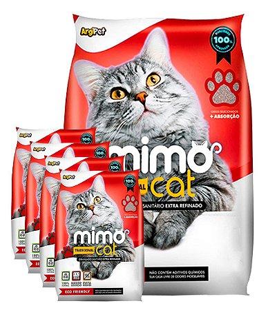 5 Pacotes de 4kg - Granulado Sanitário Mimo Cat para Gatos