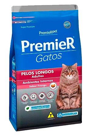 Ração Premier Sabor Frango para Gatos Adultos Pelos Longos - 500g