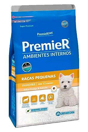 Ração Premier Ambientes Internos Sabor Frango e Salmão para Cães Filhotes de Raças Pequenas - 2,5kg