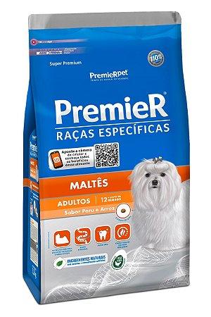 Ração Premier Raças Específicas Maltês para Cães Adultos Sabor Peru e Arroz - 1kg