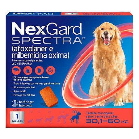 Antipulgas e Carrapatos NexGard Spectra para Cães de 30,1 a 60Kg C/1 Tablete
