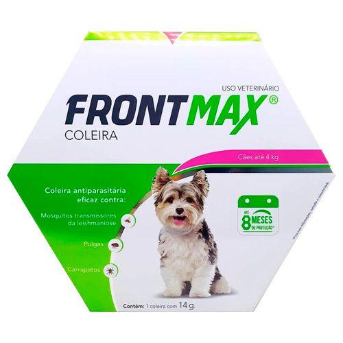 Coleira Antipulgas e Carrapatos Frontmax Vetoquinol para Cães até 4 kg