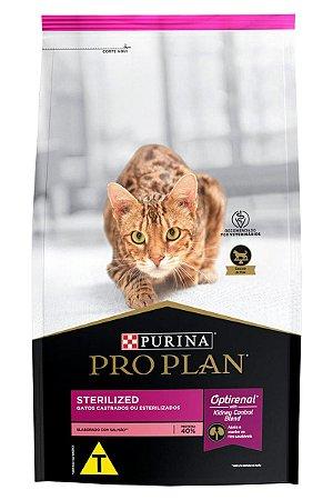 Ração Nestlé Purina Pro Plan Sterilized para Gatos Adultos Castrados Sabor Salmão - 400g e 1Kg