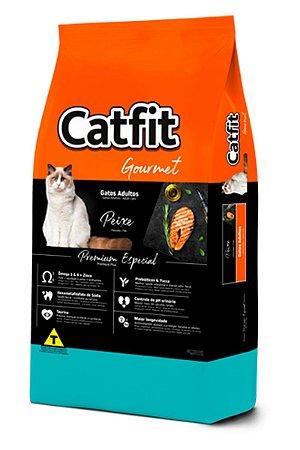 Ração Catfit Gourmet Premium Especial Sabor Peixe para Gatos Adultos - 10,1kg