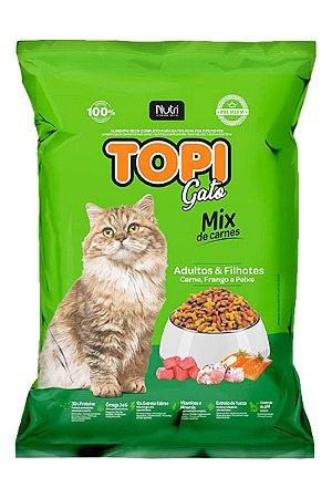 Ração Topi Gato Mix de Carnes para Gatos Adultos e Filhotes - 25g