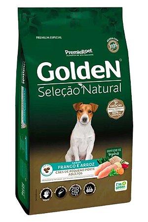 Ração Golden Seleção Natural Sabor Frango e Arroz para Cães Adultos de Pequeno Porte - 10,1kg