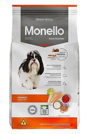 Ração Monello Premium Especial Sabor Frango para Cães Adultos de Raças Pequenas - 1kg ou 7kg