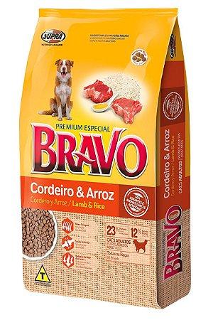 Ração Bravo Premium Especial Sabor Cordeiro e Arroz para Cães Adultos - 10,1Kg ou 20Kg