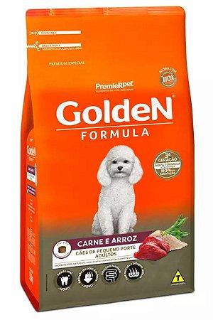 Ração Golden Formula Carne e Arroz Mini Bits para Cães Adultos de Raças Pequenas - 3Kg