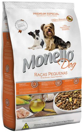 Ração Monello Dog para Cães de Raças Pequenas - 7kg, 15kg ou 25kg