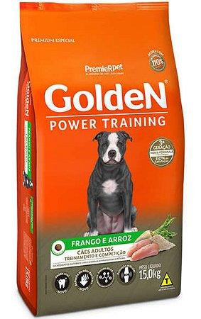 Ração Golden Power Training Cães Adultos Frango e Arroz - 15Kg