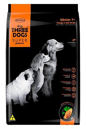 Ração Three Dogs para Cães Sênior Sabor Frango e Chá Verde - 15Kg