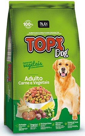 Ração Topi Dog Carne e Vegetais para Cães Adulto de 7kg ou 25kg