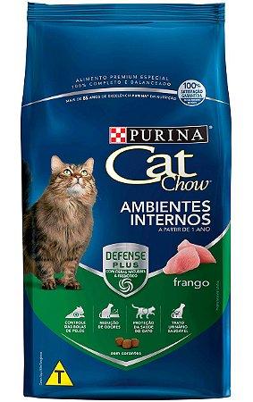 Ração Cat Chow Ambientes Internos Sabor Frango para Gatos - 10,1Kg