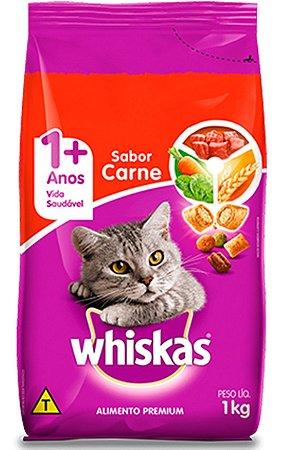Ração Whiskas Sabor Carne para Gatos Adulto - 10,1Kg